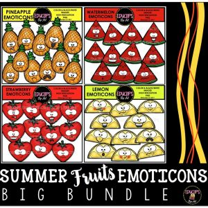Summer Fruits Emoticons