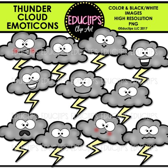 Thunder Cloud Emoticons