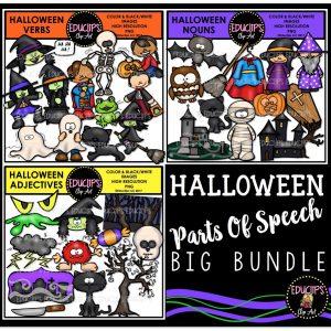 Halloween Parts Of Speech Big Bundle
