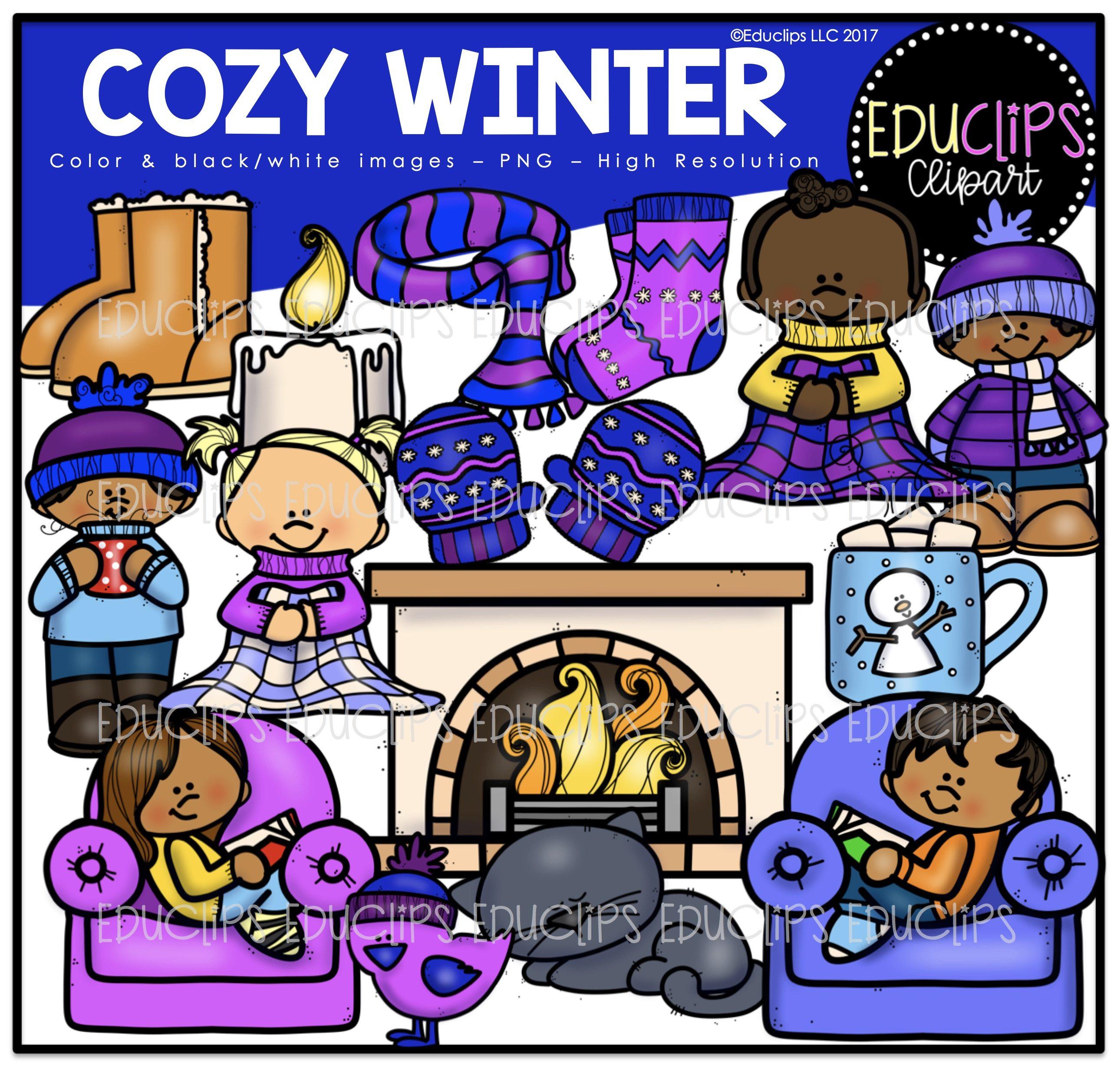 Color and art - Winter Clip Art Mega Bundle Color And B W