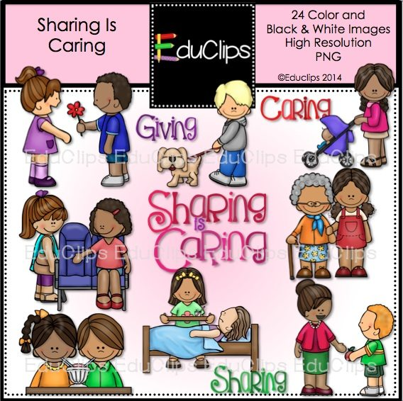 Kids Sharing Clipart Black And White Social Skills Mega Bun...