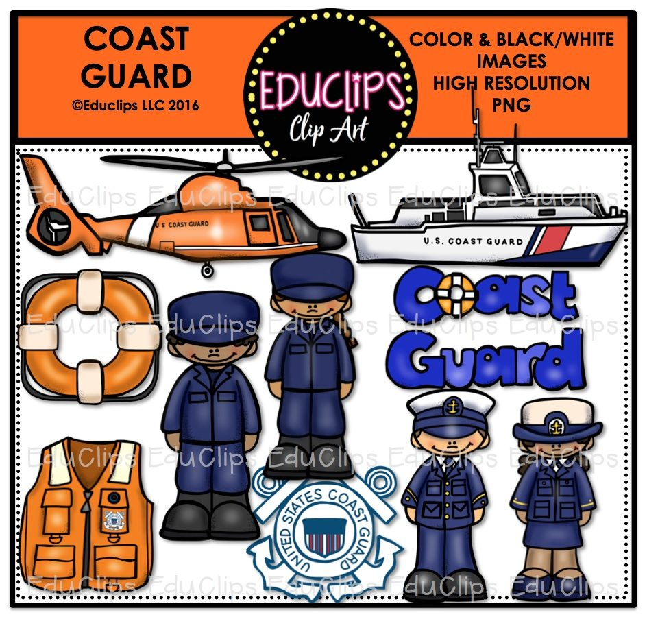 coast guard clip art bundle color b w welcome to educlips store rh edu clips com coast guard day clipart coast guard cutter clipart