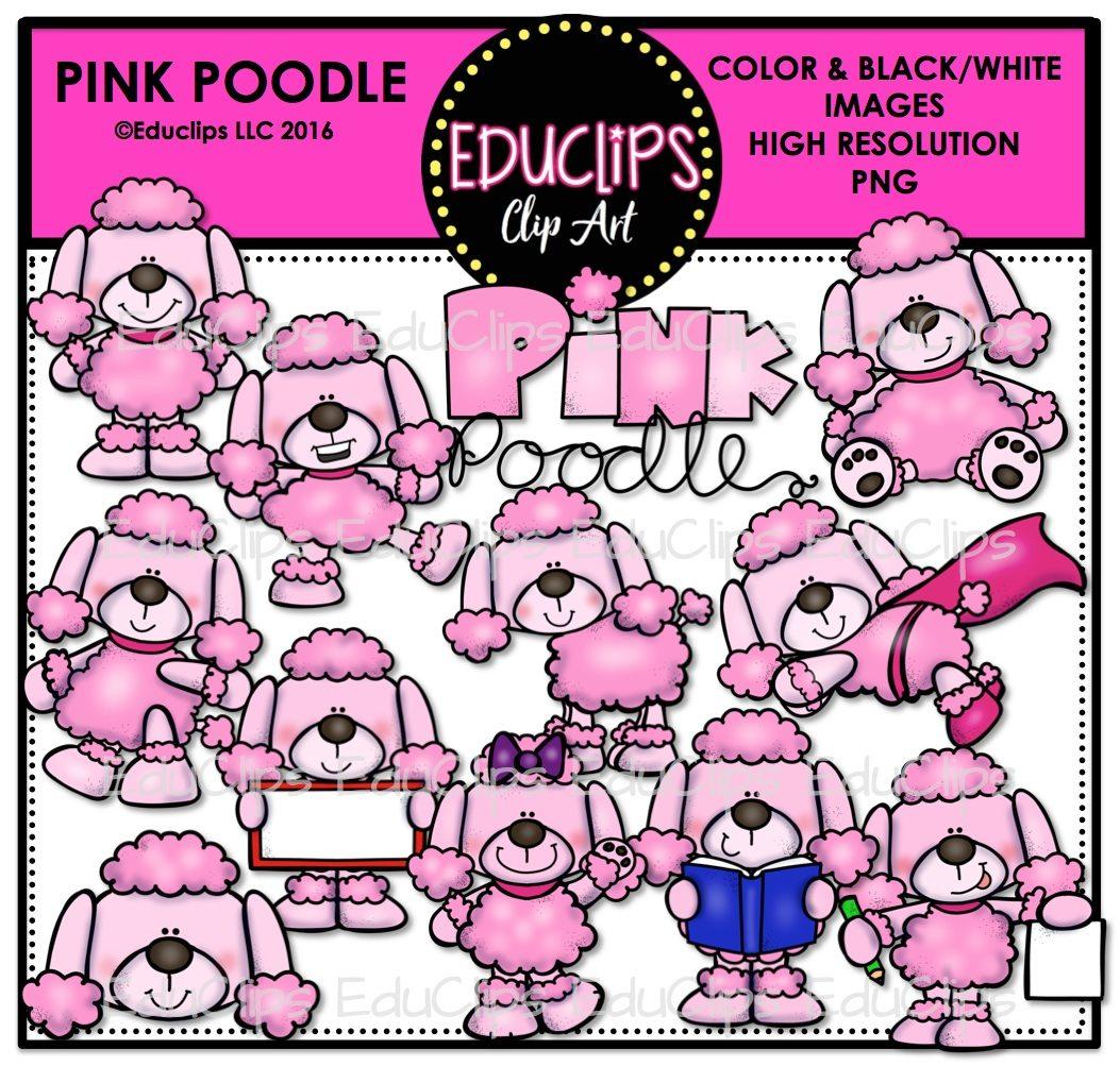 Pink Poodle Clipart
