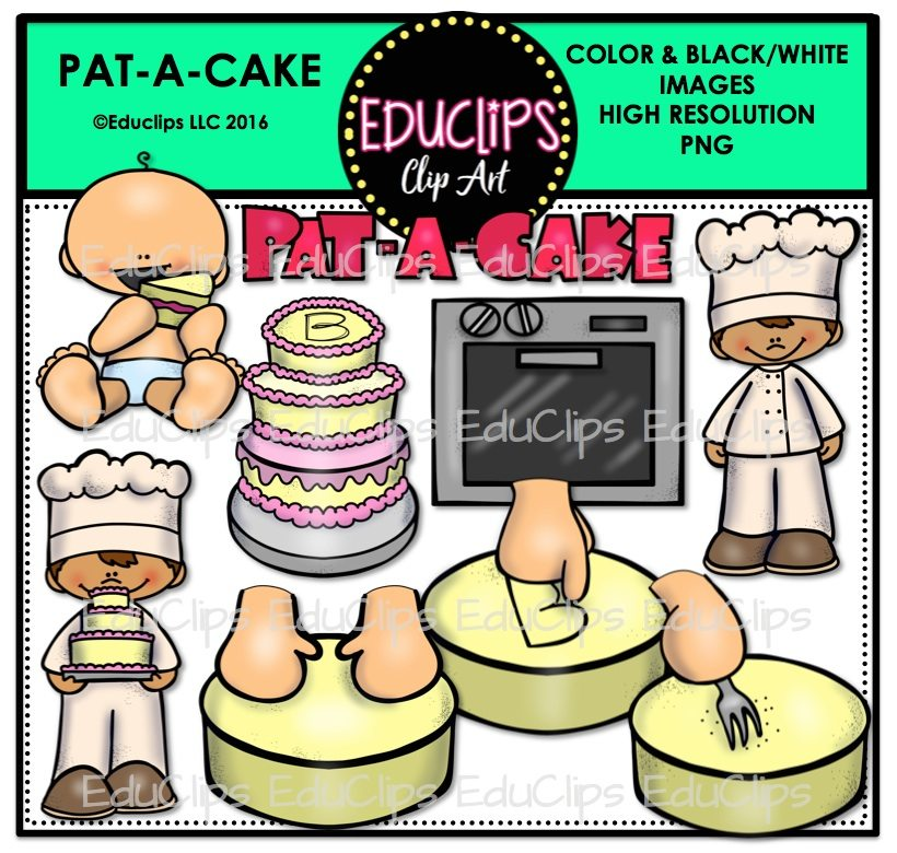 Pat A Cake Nursery Rhyme Clip Art Bundle