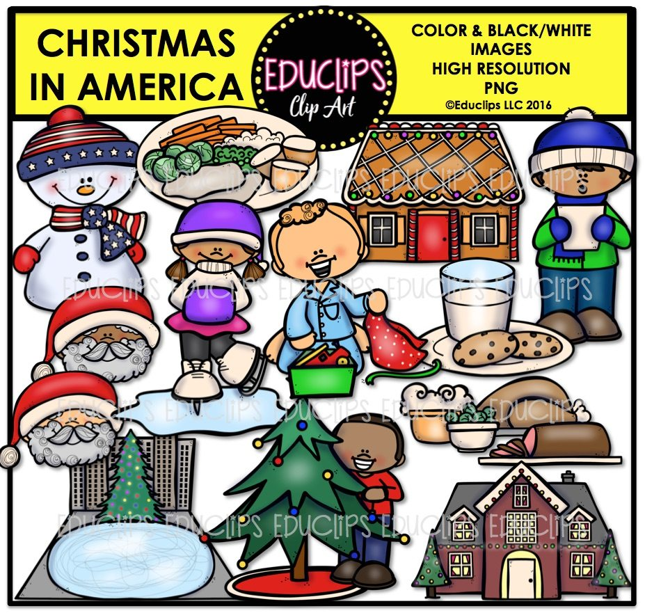 Christmas In America Clip Art