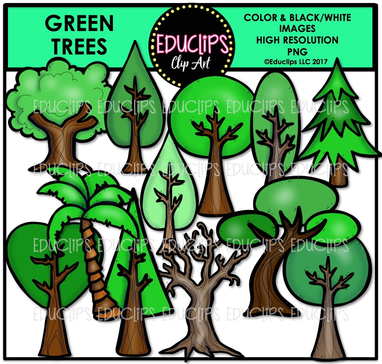 Earth Lovers Clip Art Bundle (Color and B&W) - Welcome to Educlips Store