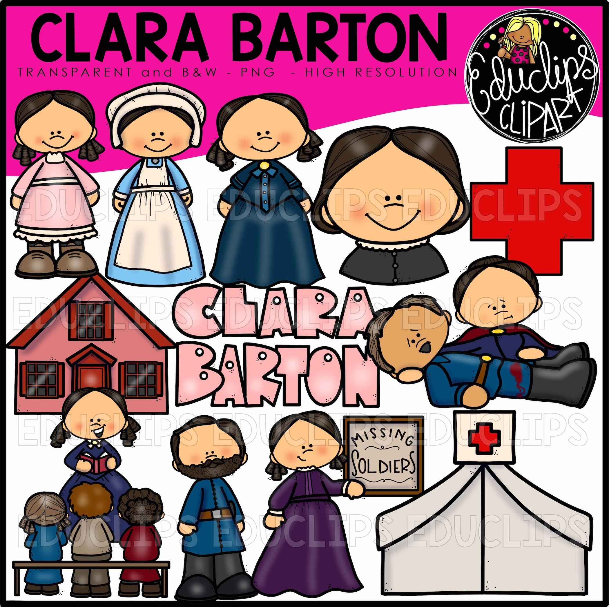 Atractivo Colorear Clara Barton Molde - Dibujos Para Colorear En ...