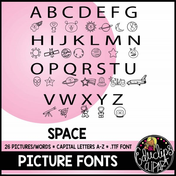 Space Picture Font