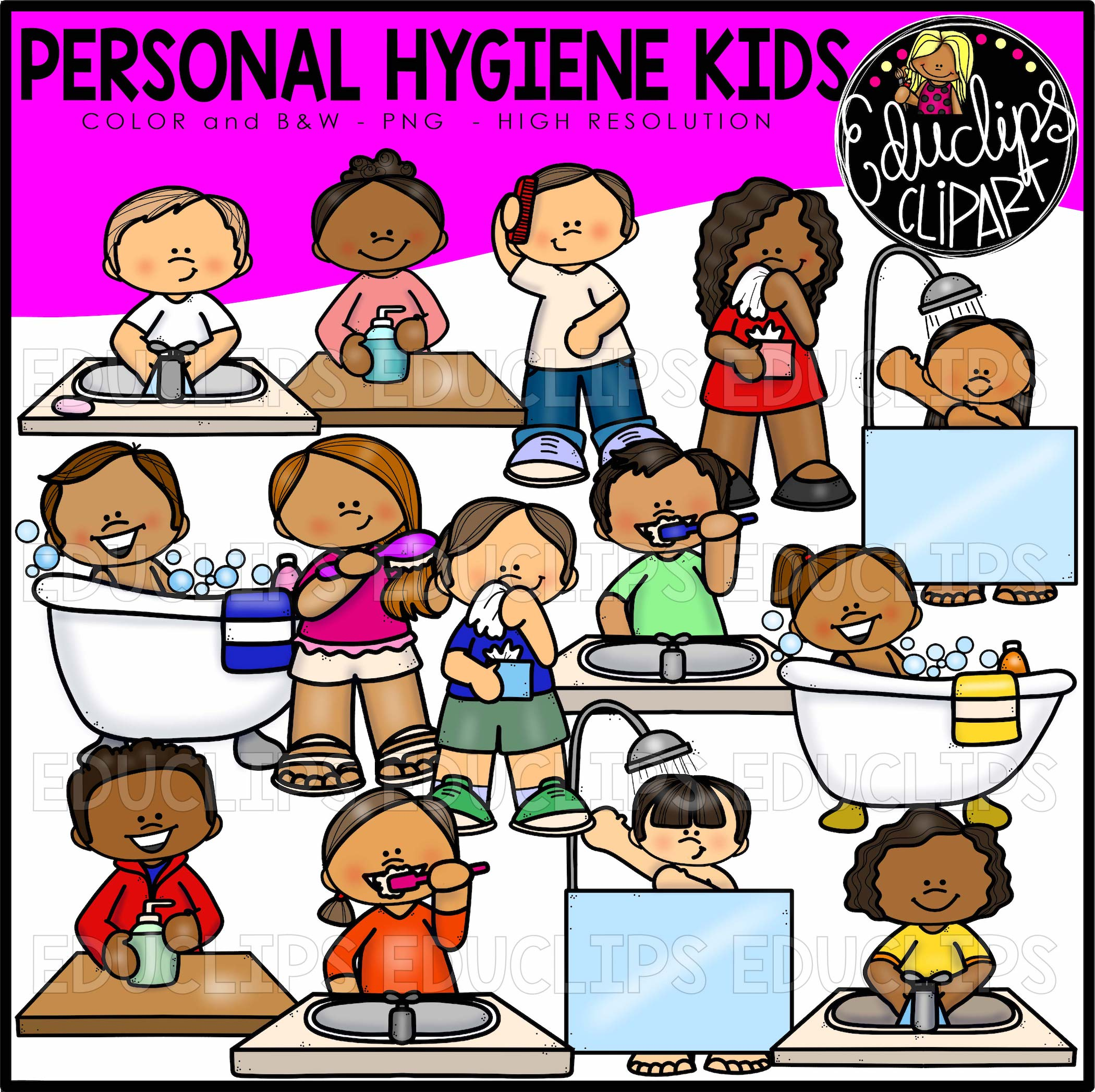 hygiene personal clipart clip health educlips sickness clips template bundle mega edu earn purchase points science