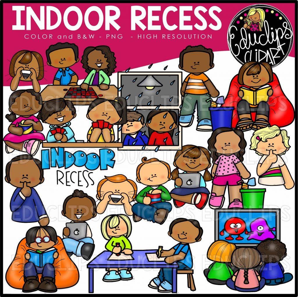 Indoor Recess Clip Art Set