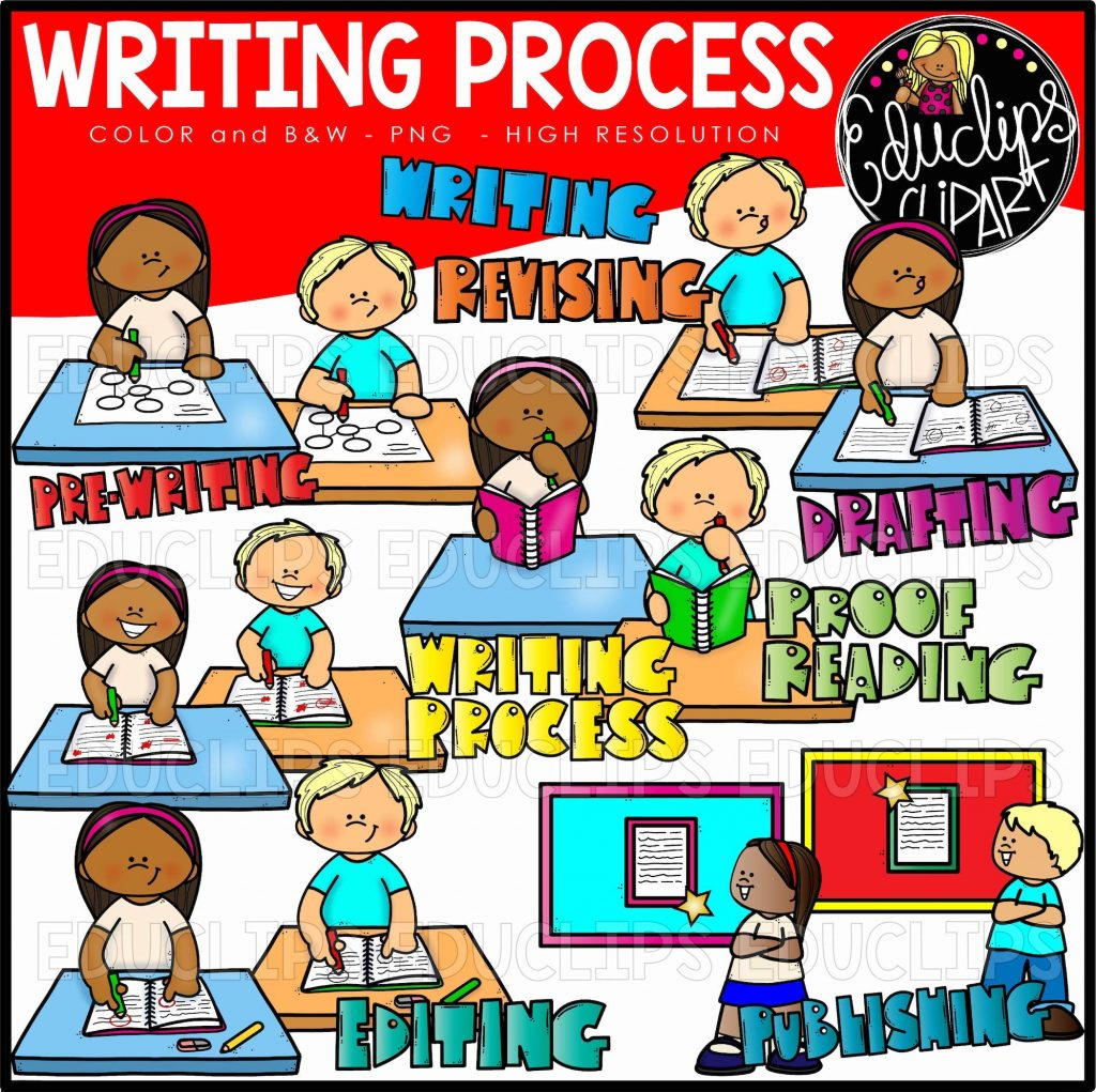 Writing Process Clip Art Set - Edu Clips