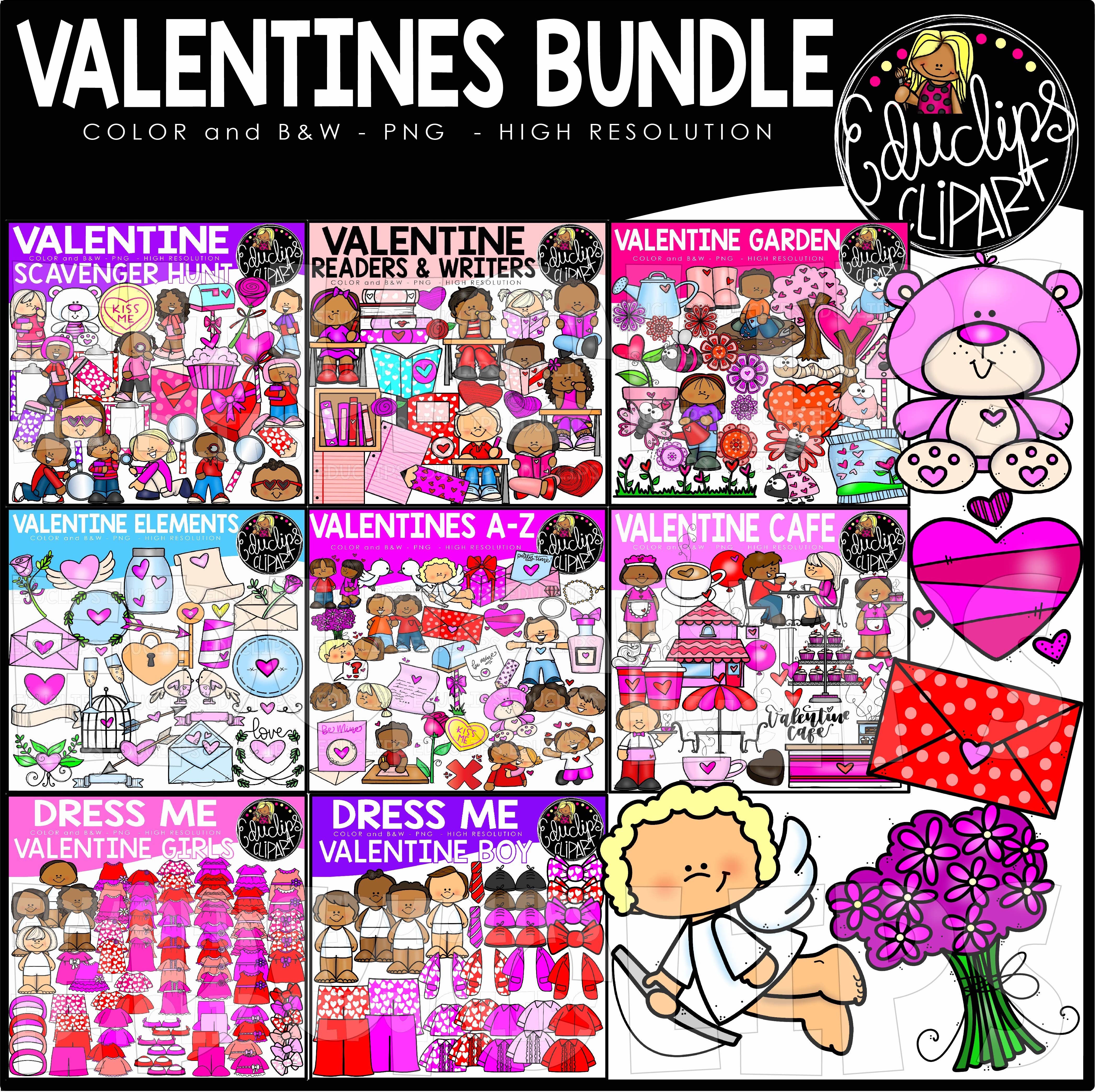 Valentine 2019 Clip Art Bundle Welcome To Educlips Store