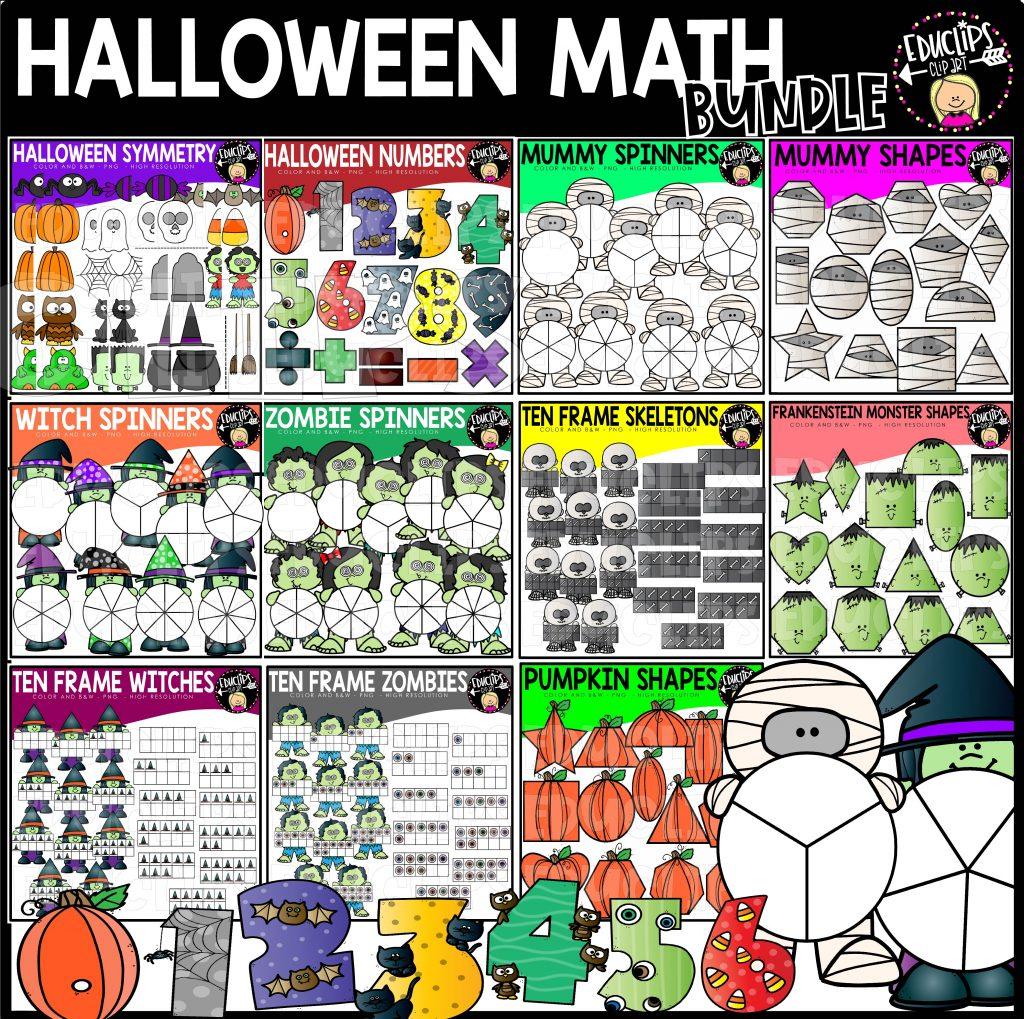 Halloween Math Clip Art Bundle - Edu Clips