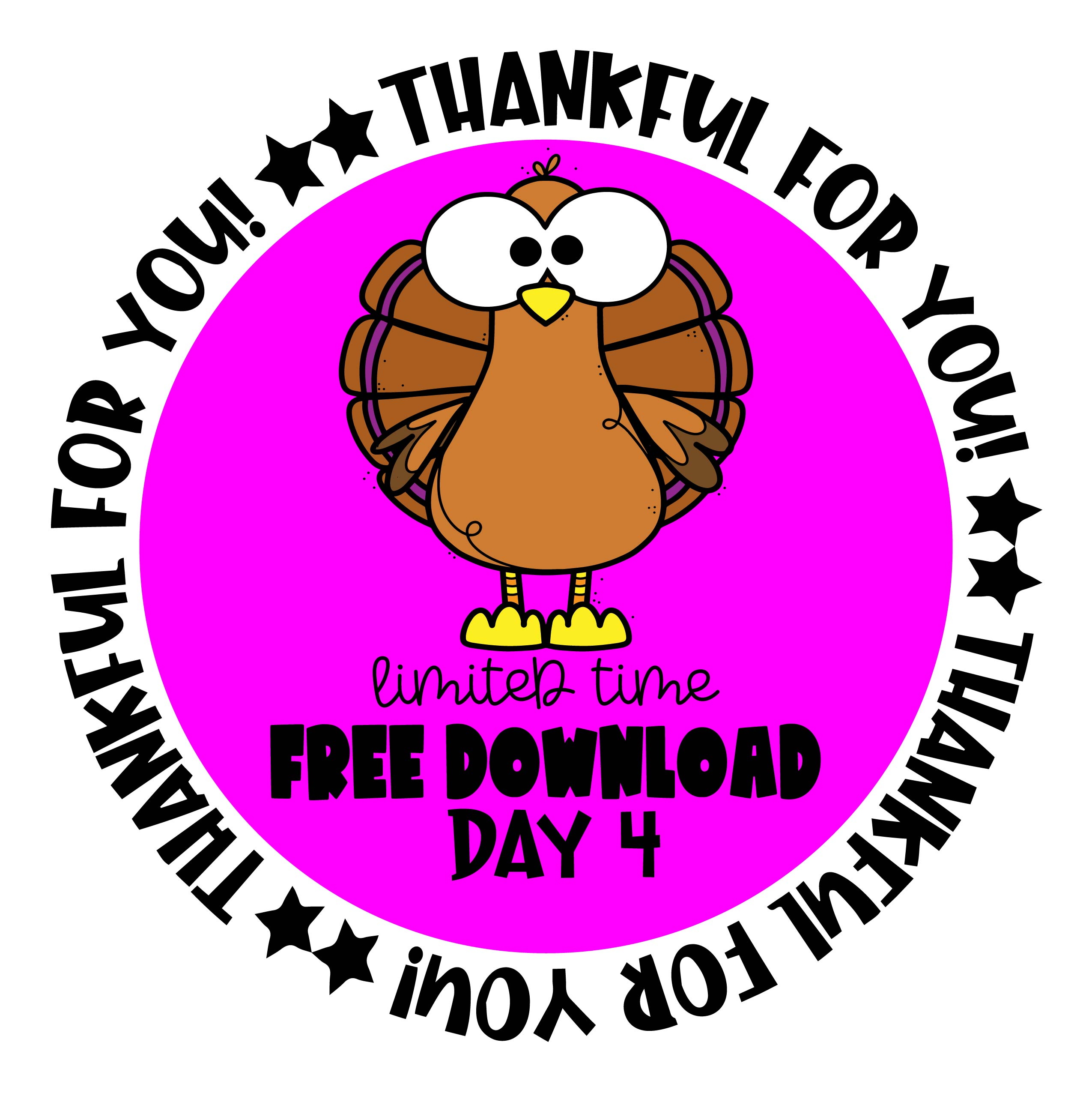 Thankful For You Free Download Day 4 Edu Clips