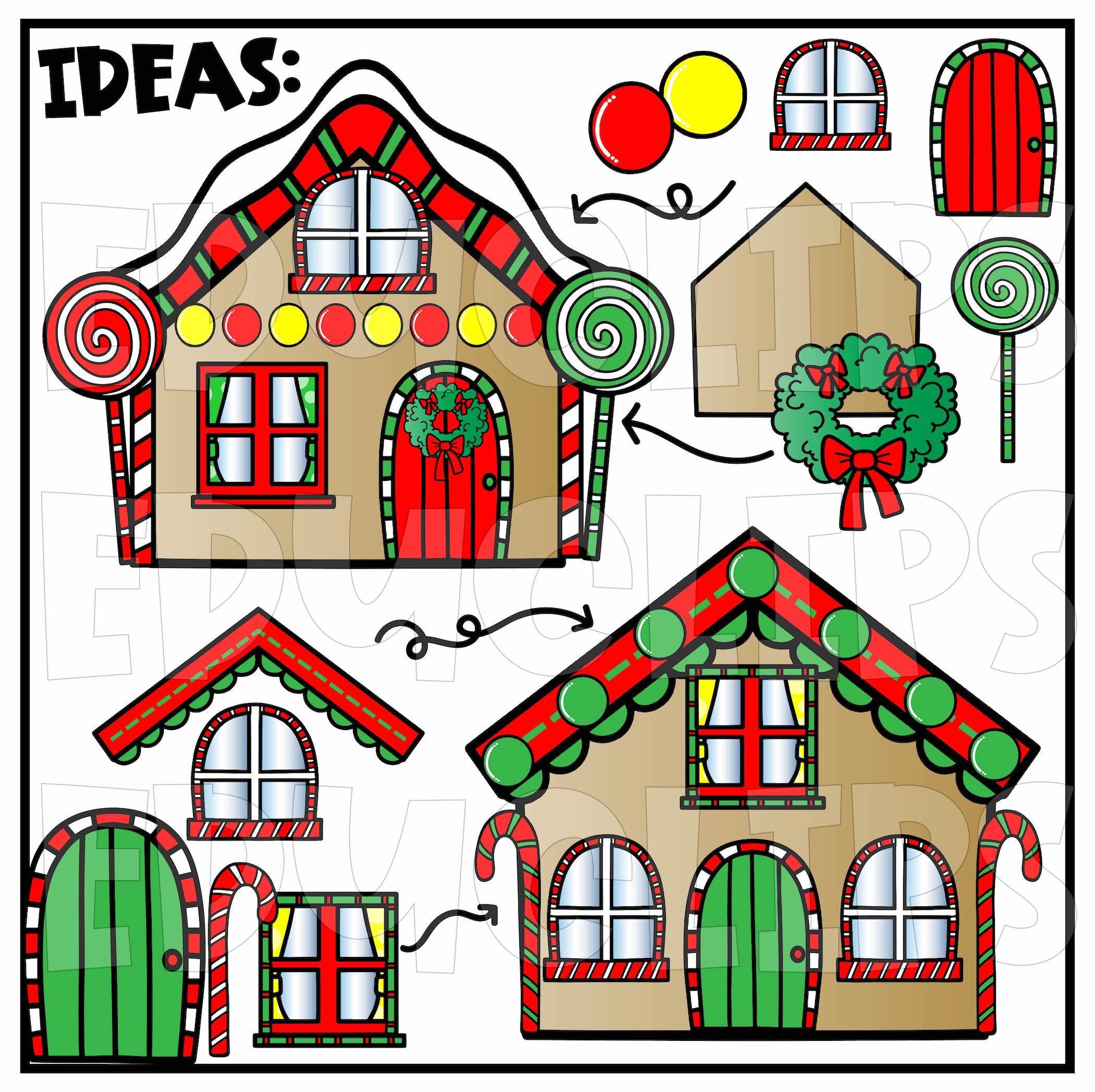 Build A Gingerbread House Clip Art Set - Edu Clips