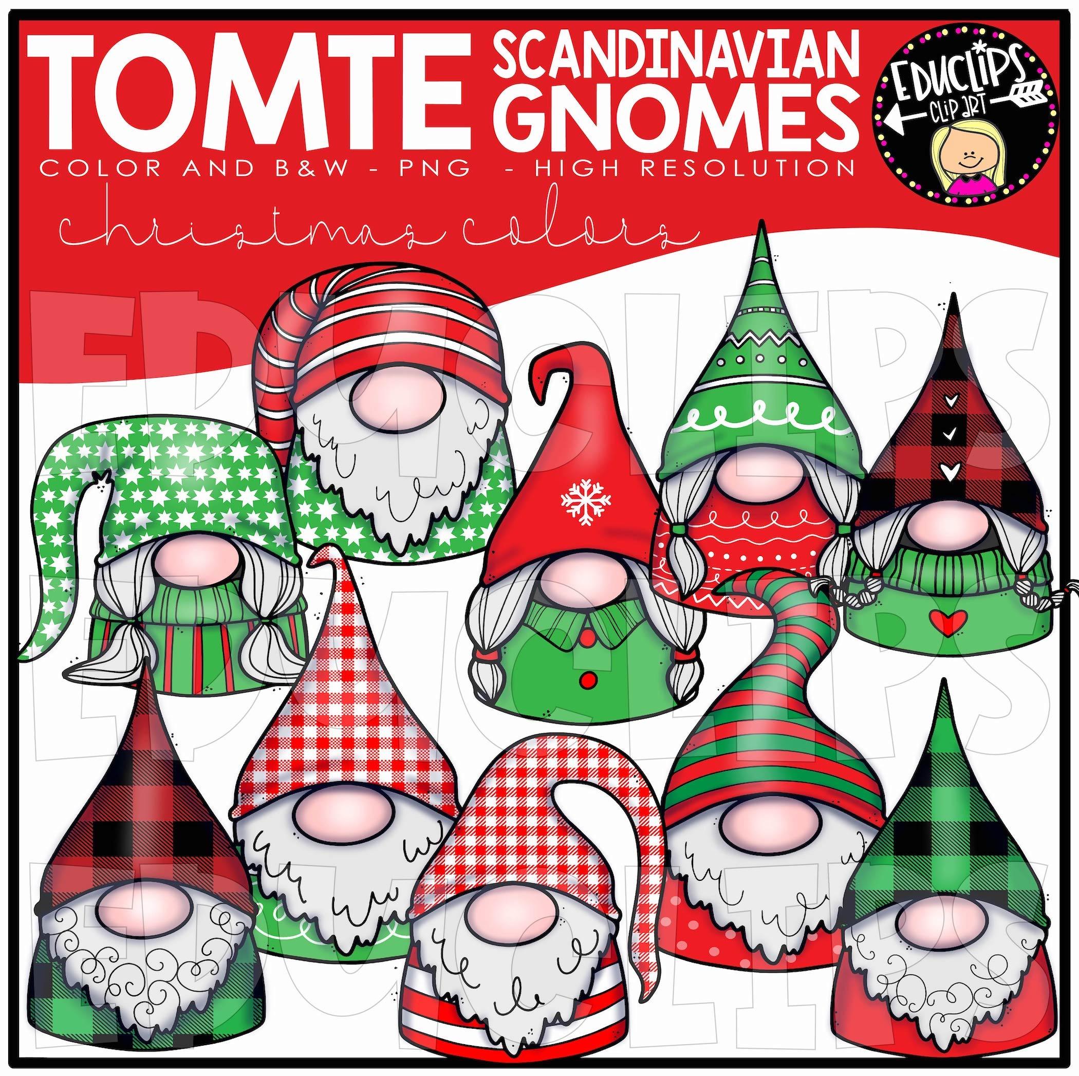 Tomte - Mini Scandinavian Gnomes Clip
