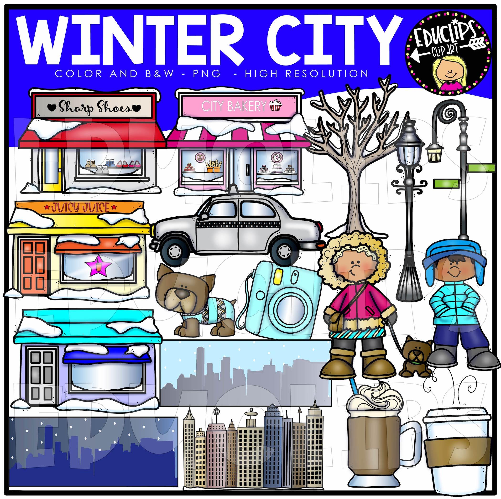 City Winter Clip Art